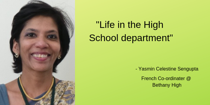 """Life In The High School Department"" By Yasmin Celestine Sengupta"