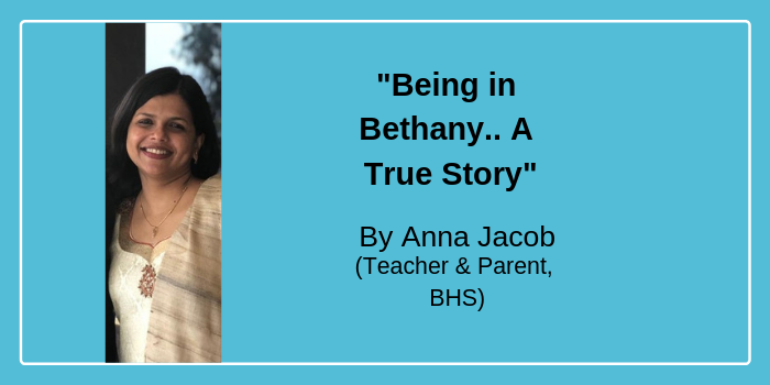 """Being in Bethany.. A true story"" by Anna Jacob"