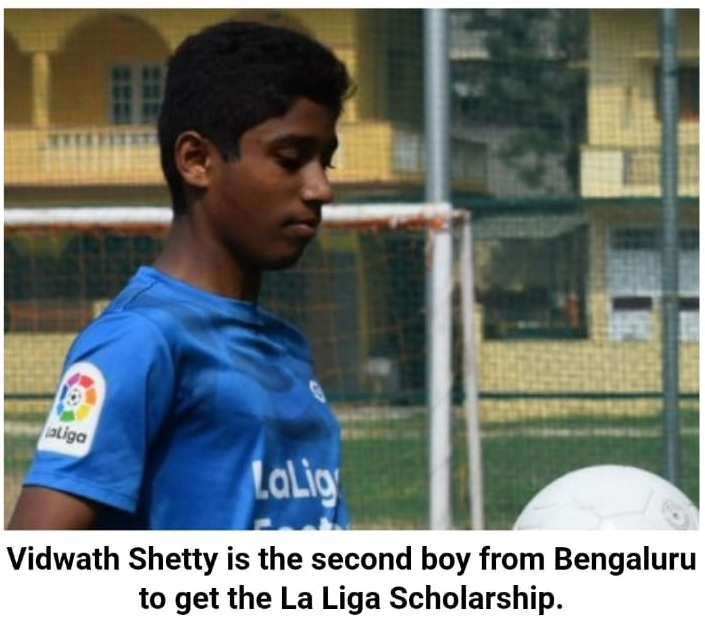 Vidwath Shetty from Bethany to train under The Laliga Football scholorship in Spain!