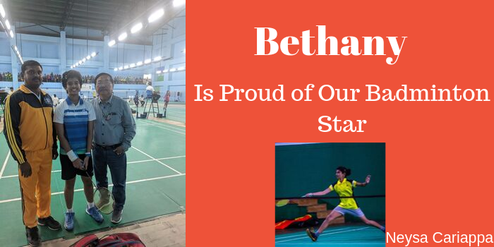 Bethany is Proud of Our Badminton Star